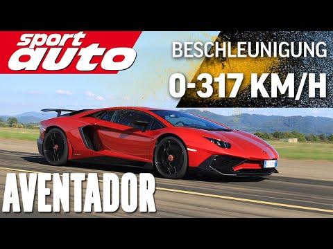 Lambo Aventador LP 750-4 SV 0-300 km/h-0 Highspeed Braking