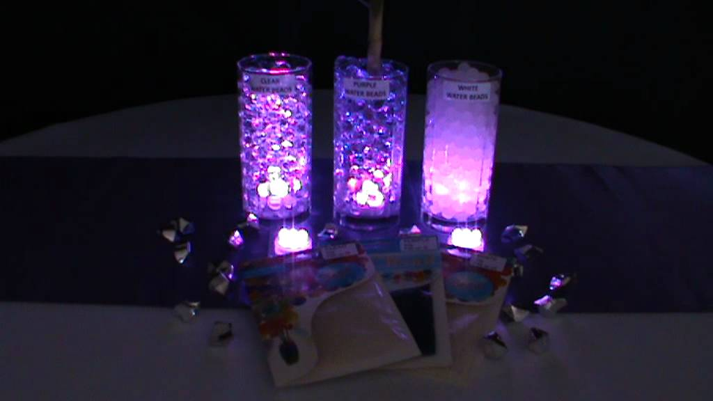 3led Submersible Lights Purple Amp Blyss 174 Water Beads Youtube