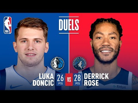 Luka Doncic & Derrick Rose Battle in Dallas