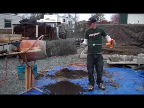 Cement Mixer Soil Trommel Sifter