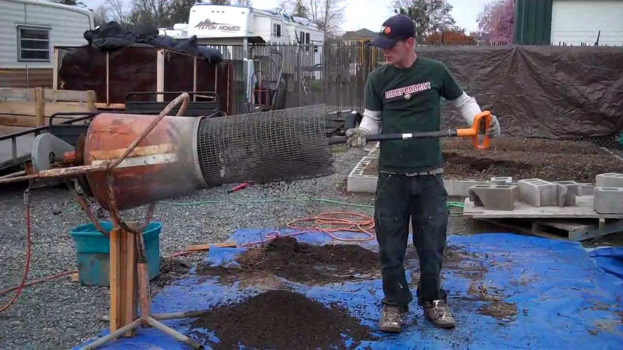 Cement Mixer Soil Trommel Sifter Youtube