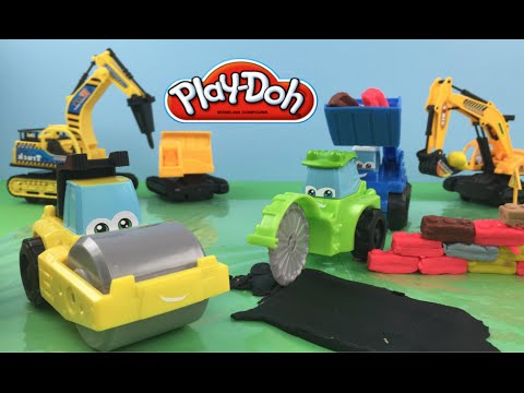 Playdoh Tonka Diggin' Rigs Rolland the Steamroller other construction car toys & mighty machines