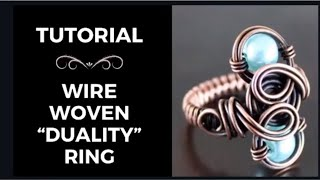 How to make a wire woven ring | Tutorial #5