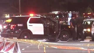 Shots fired at LAPD officers