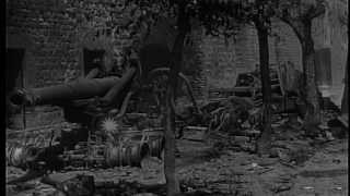 U.S. forces occupying Buonconvento,Italy, during World War II HD Stock Footage