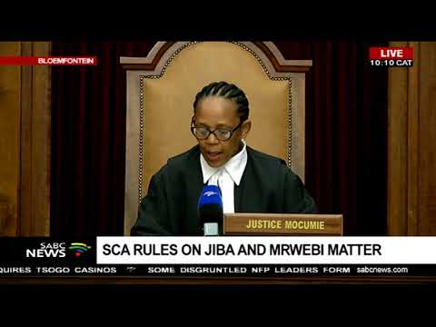 SCA rules on Jiba and Mrwebi matter