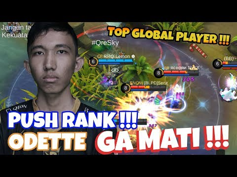 Push Rank, RRQ LEMON Pake Odette !!! GANAS BRO, ANTI MATI !!! | Mobile Legend Odette
