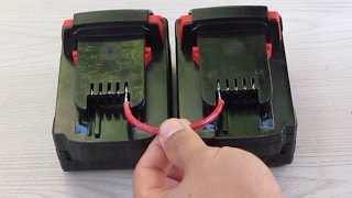 Quick tip: Make a Cable for cordless tool batteries without using metal clips
