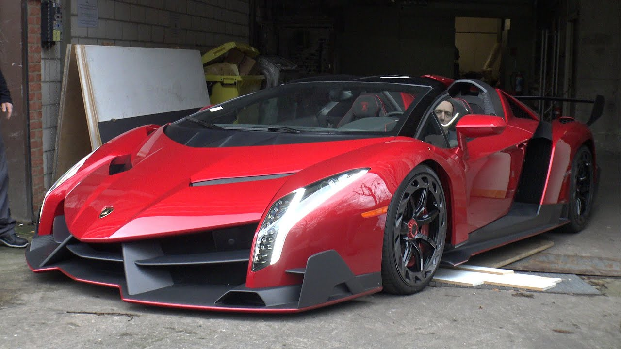 5 0 Million Lamborghini Veneno Roadster On The Road
