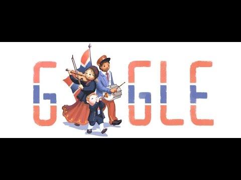 Google Doodle - May 17 2015 Grunnlovsdag/Verfassungstag Norwegen/Norwegian Constitution Day