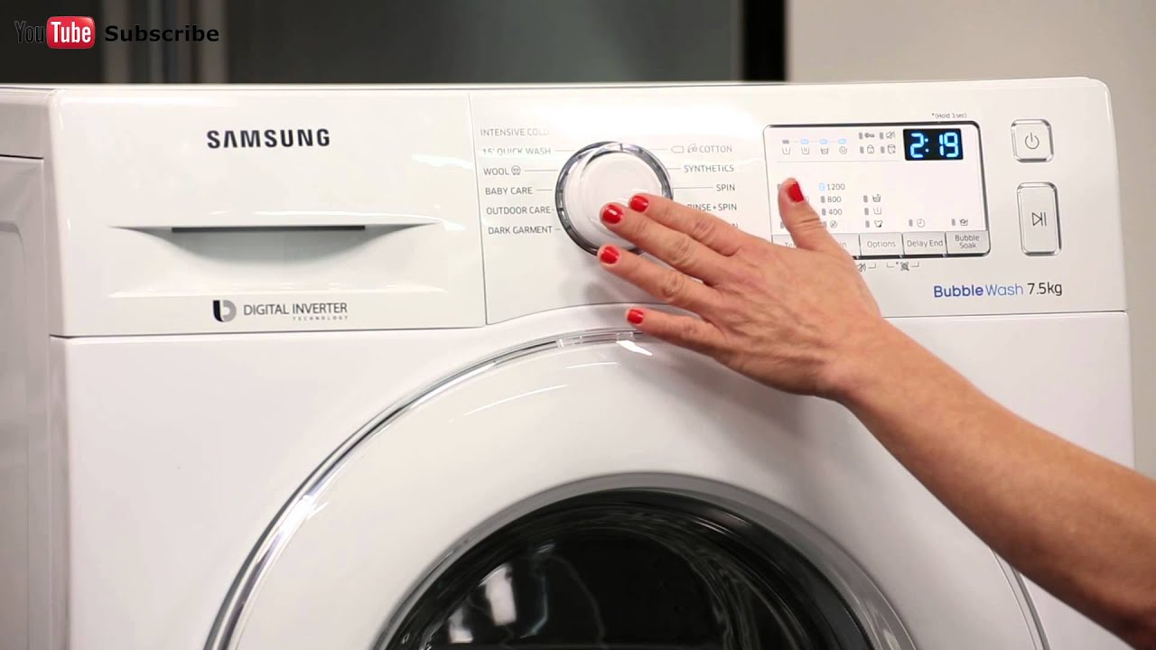 samsung ww75j4213iw 7 5kg front load washing machine reviewed by product expert appliances online youtube