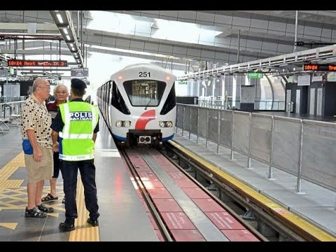 Traveling by LRT, Kelana Jaya Line ,Subang Jaya,Selangor, Malaysia(Full HD)