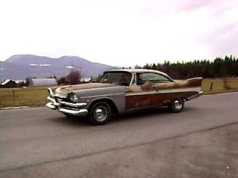 1957 Dodge Mayfair burnout