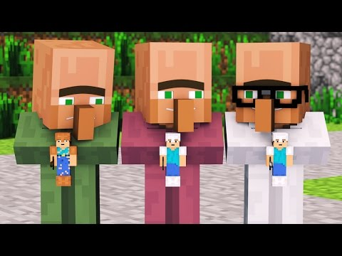 Villager & Witch Life 1 - Alien Being Minecraft Animation