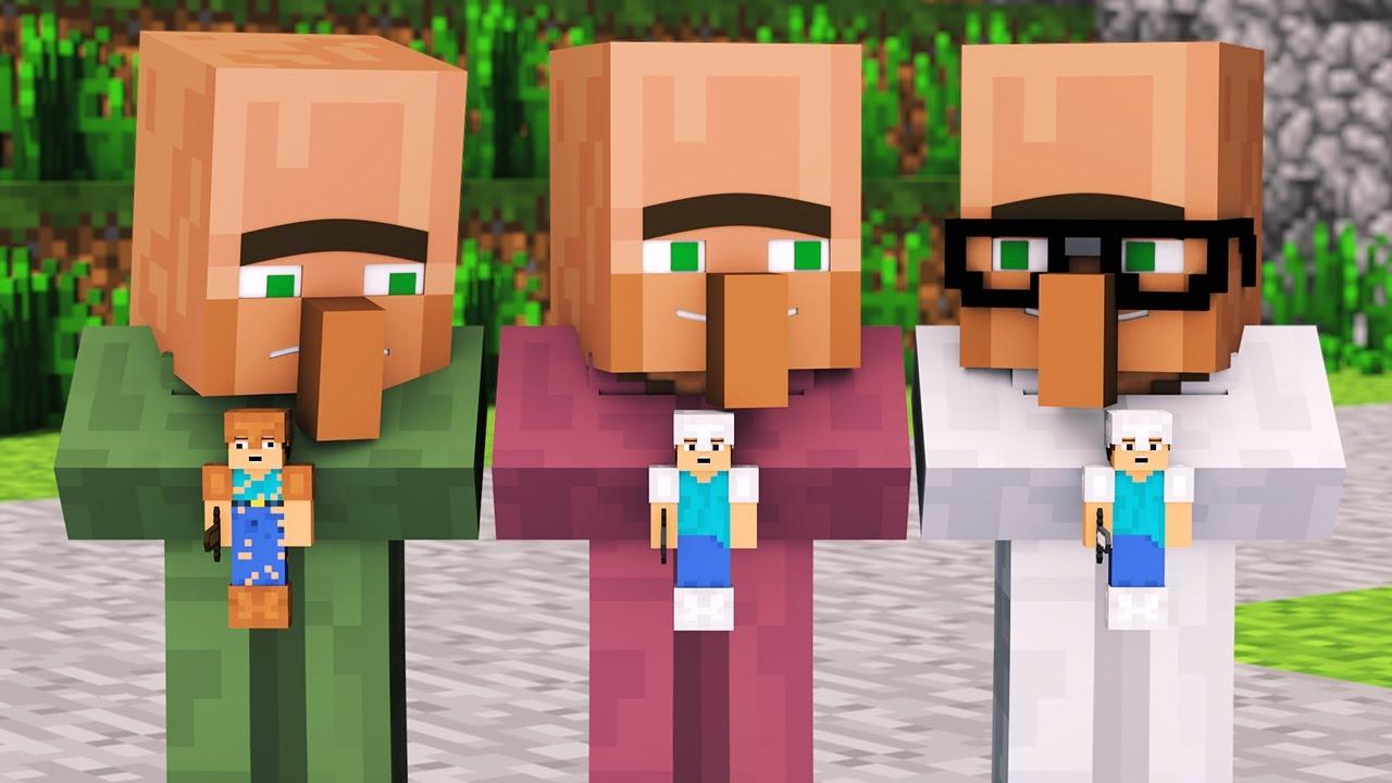 Villager & Witch Life 1 - Alien Being Minecraft Animation ...