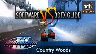 3dfx Voodoo 3 3000 PCI - Need For Speed III: Hot Pursuit - Country Woods (Software vs. Glide)
