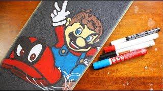 Super Mario Odyssey Skateboard Grip Art!