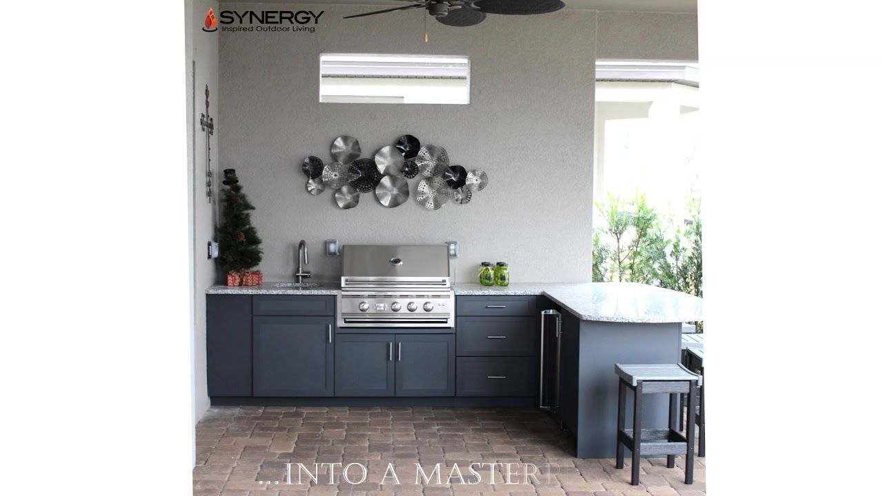 Tampa Outdoor Kitchen Installation by Synergy - YouTube on Synergy Outdoor Living id=71928