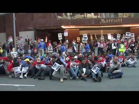 Dozens Arrested in San Francisco Hotel Protest