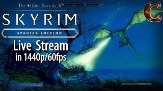 Skyrim Special Edition Live, in 1440p/60fps! Za'urabi, Party of SIX, Level 61 Part 78 Legendary