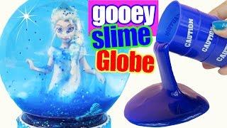 SLIMY FROZEN ELSA GOOEY SLIME GLITTER GLOBE Make Your Own How to Glitzi DIY MagiClip Doll