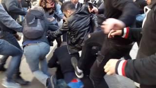 Un Pickpocket démasqué lors de la manifestation chinoise. Paris/France - 02 Avril 2017