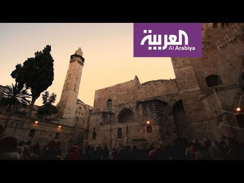 وأن المساجد لله | مسجد عمر بن الخطاب بناه الأفضل بن صلاح الدين مكان صلاة عمر عند دخوله القدس