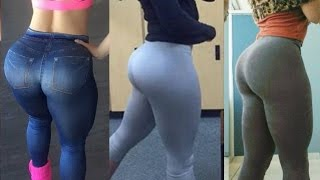 Exercises for legs and buttocks!Crossfit Girls! Yoga Pants! butt workout!Sports ass! BIG BOOTY TRAIN