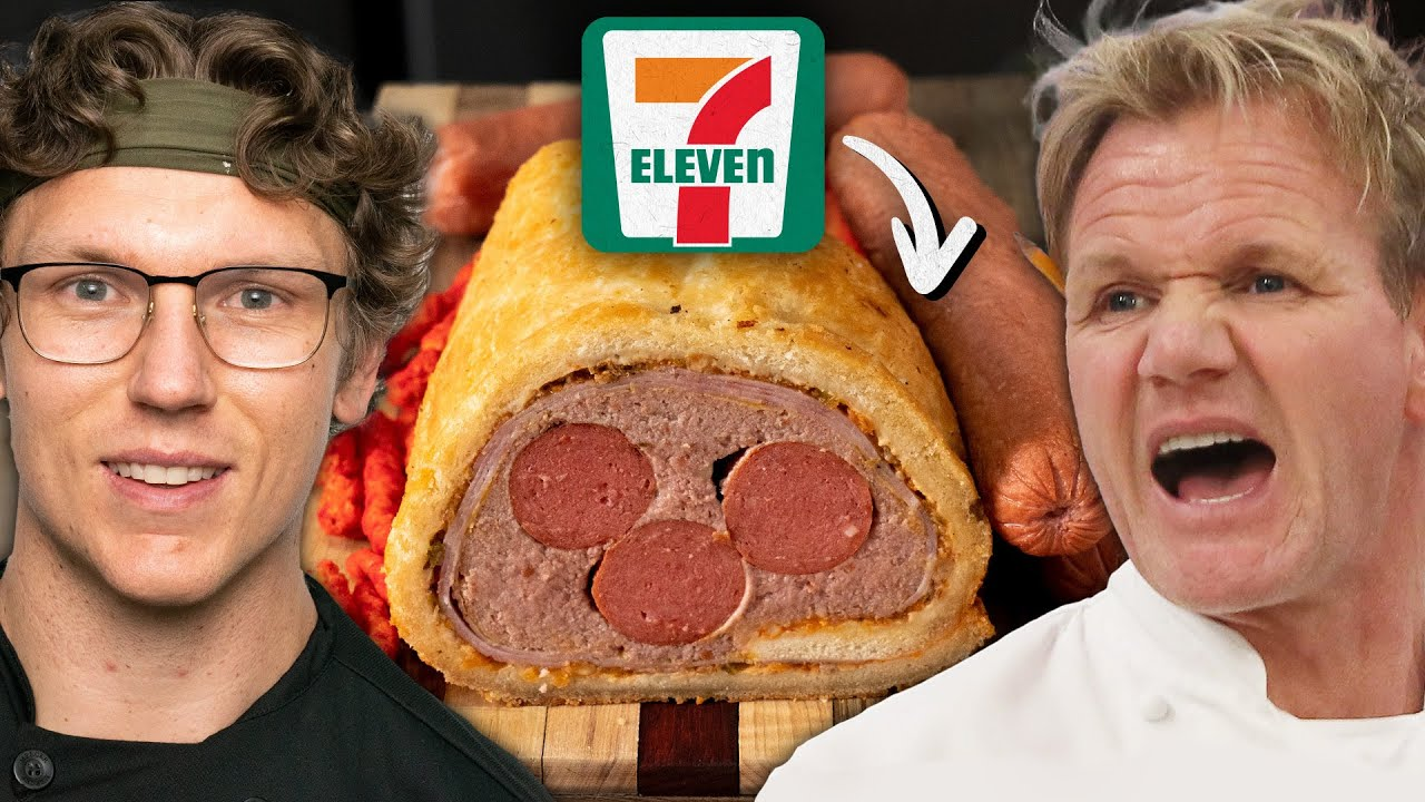Josh Makes Gordon Ramsay's Beef Wellington With 7-Eleven Ingredients