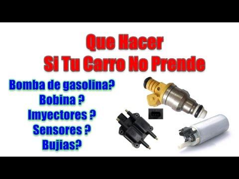 Porque se mojan de gasolina las bujias de un carro y no prende