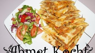 Rezept: Gözleme mit Hackfleisch und Mozzarella | AhmetKocht | türkisch kochen  | Folge 72