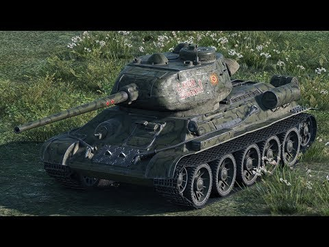 World of Tanks T-34-85 - 12 Kills 5,2K Damage (1 VS 7)