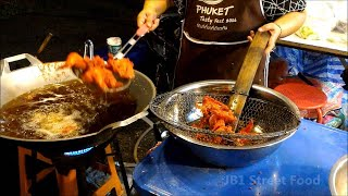 Thailand Street Food  fried chicken in Phuket Thailand