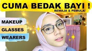 MAKEUP SUPER NATURAL UNTUK PEMAKAI KACAMATA | Makeup Untuk Remaja | Low Budget Makeup | raniekarlina