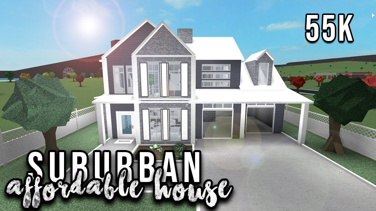 Roblox Welcome To Bloxburg Affordable Suburban House