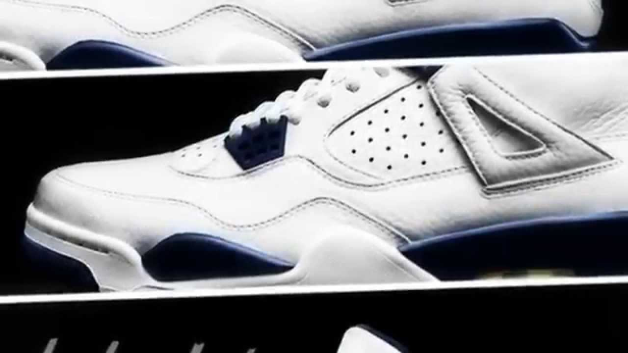 purchase cheap 0a577 b09dd NIKE AIR JORDAN IV RETRO 4 White Legend Blue-Midnight Navy COLUMBIA  REMASTERED RELEASE DATE