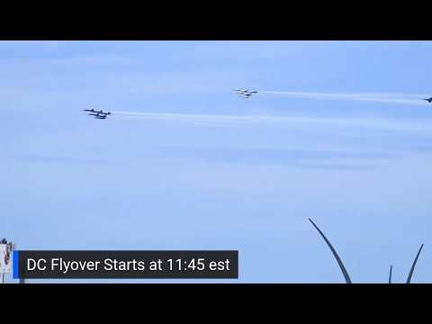 Blue Angels And Thunderbirds Fly Over Washington DC To Honor Frontline Workers.