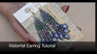 How To Create Waterfall Earrings Tutorial using Polymer Clay Beads and more !, Jewelry Tutorial