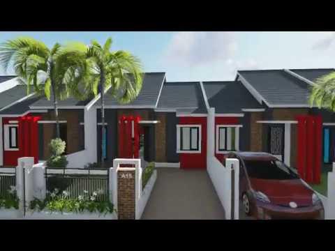 Desain Rumah Minimalis Ukuran 6x8  desain rumah 6 x 8 m dengan 2 kamar tidur ruang makan toilet dan taman
