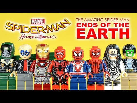 The Amazing Spider-Man Ends of the Earth Homecoming w/ Iron Man Unofficial LEGO Minifigures