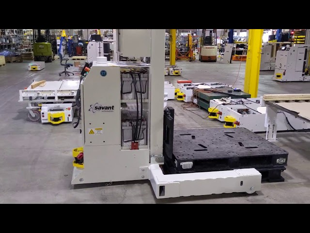 SAVANT 'Tape/Target-free' Straddle Fork AGV - 4,000 lbs. Capacity