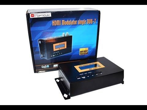 DVB-T модулятор: передача HDMI сигнала по коаксиальному кабелю