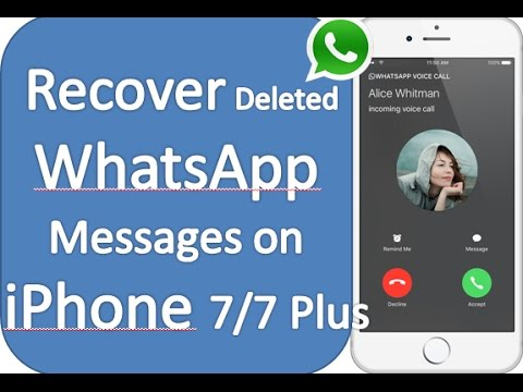 How to recover whatsapp messages on iphone 6