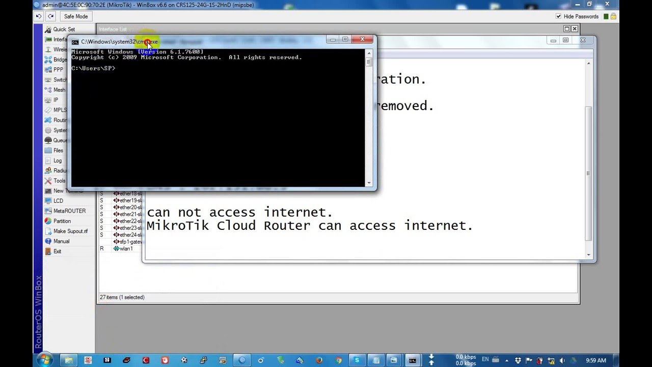 How To Configure Mikrotik Cloud Router Switch Youtube