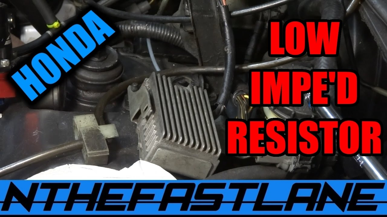 hight resolution of  low impedance injector resistor pack honda how to