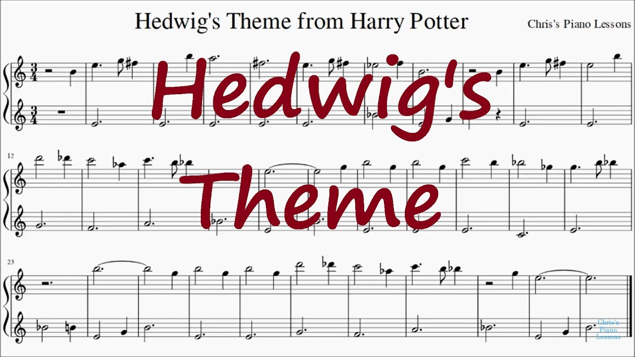 picture relating to Harry Potter Theme Song Piano Sheet Music Printable Free known as Harry Potter - Hedwigs Topic - Straightforward Piano Sheet Songs (No Songs)