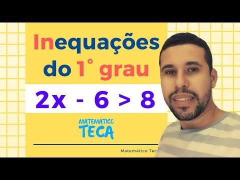 Inequações do 1° grau - Matemático Teca