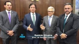 Senador Eunício acompanha em Brasília pleitos do prefeito Zé Maria Lucena