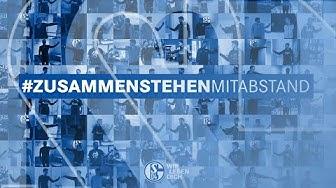 Schalker stehen zusammen – mit Abstand | FC Schalke 04