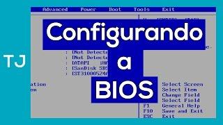 Configurando a bios para a formatação apartir de um cd, dvd ou pen drive